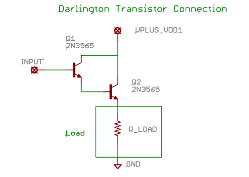 Darlington Transistor Connection