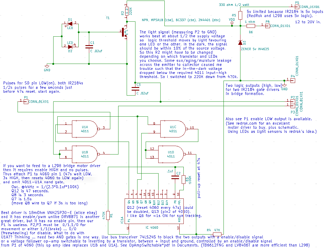 L298 Solar Tracker Schematic Trusted Wiring Diagrams Pin Circuit Lm339 4 On Pinterest Sun Or Irrigation Timer To Drive Motors Opencircuits Tracking System