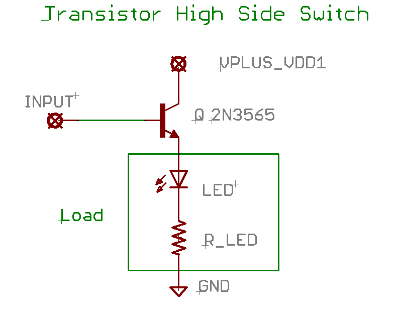 Transistor High Side Switch