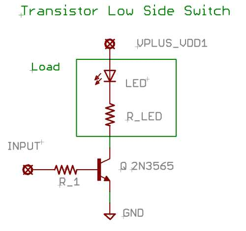 Transistor Low Side Switch