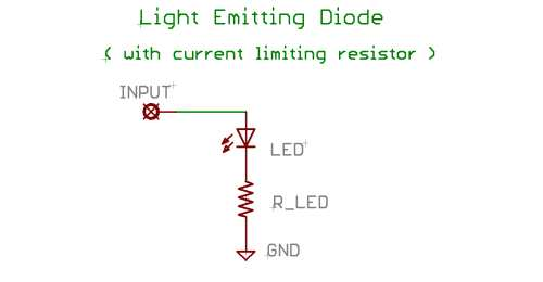 LED and current limiting resistor